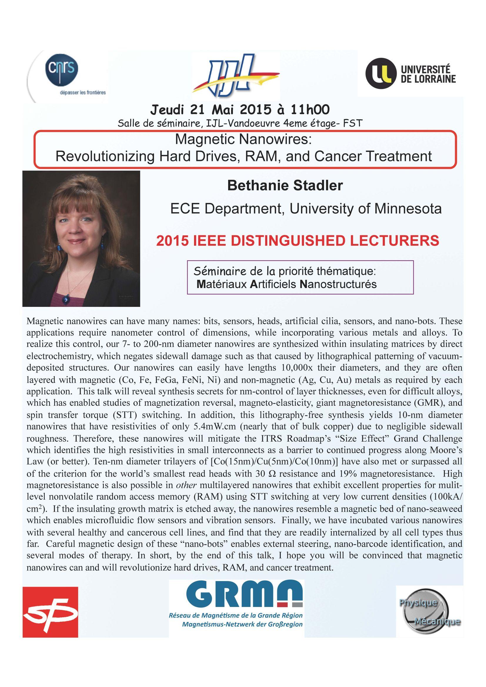 Seminaire Bethanie Stadler 21 mai 2015