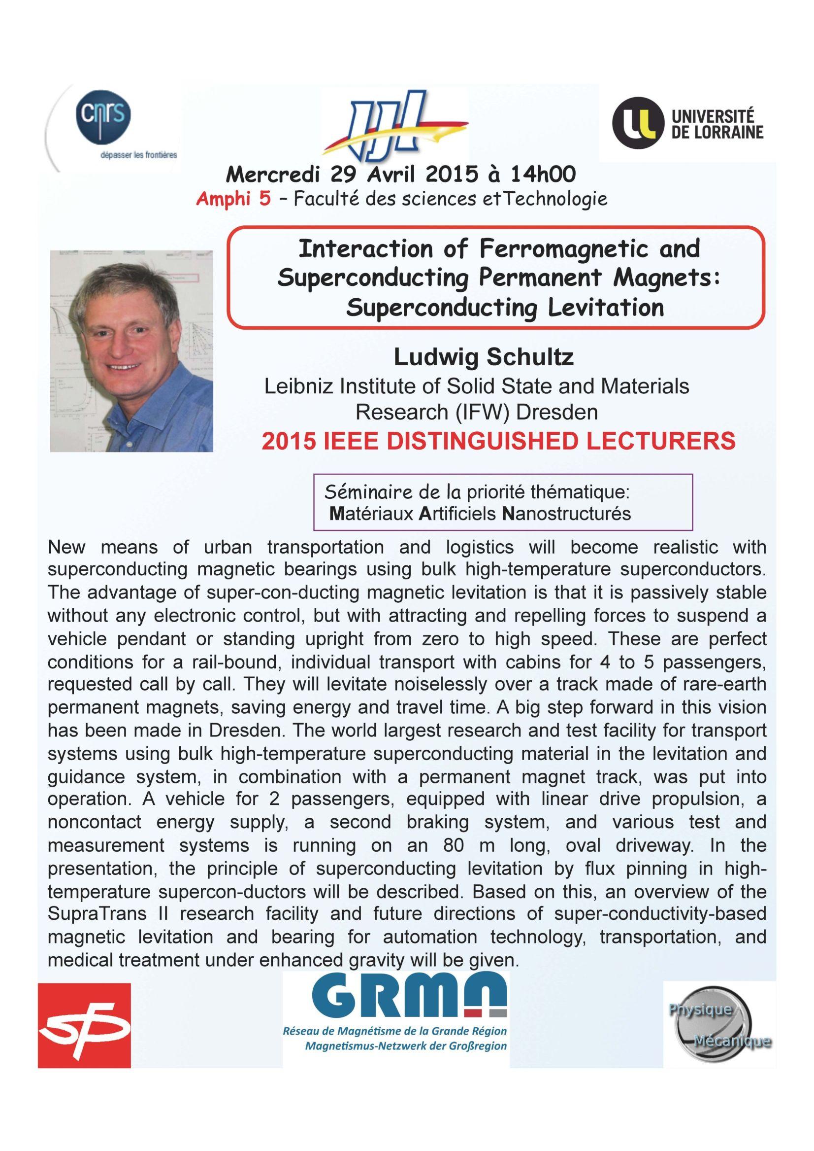 Seminaire Ludwig Schultz 29 Avril  2015